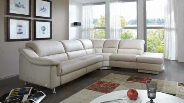 Comfortmaster 1320 – Leder-Eckcouch mit Relaxfunktionen